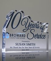 Picture of 10 Years of Service Acrylic Award
