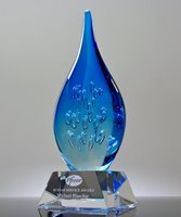 Picture of Elemental Flame Art Glass Award