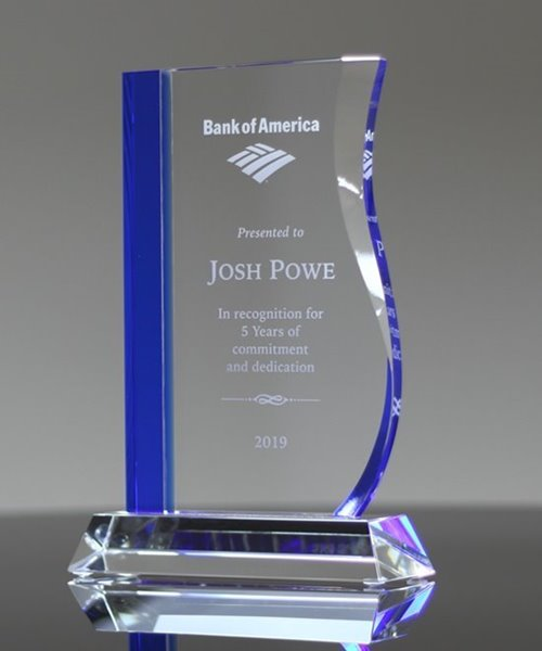 Picture of Blue Crystal Wave Trophy