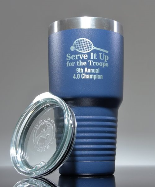 Picture of Laser Engraved Polar Camel 30 oz. Royal Blue Insulated Tumbler