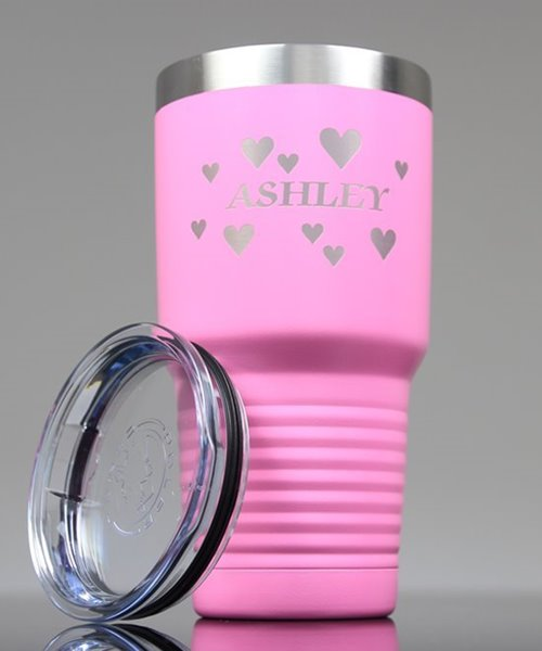Picture of Laser Engraved Polar Camel 30 oz. Pink Insulated Tumbler