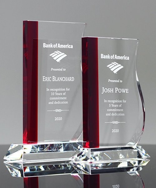 Picture of Red Wave Crystal Award