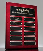 Picture of Rosewood Perpetual Name Plaque - Black