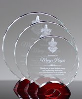 Picture of Red Arc Glass Circle Award