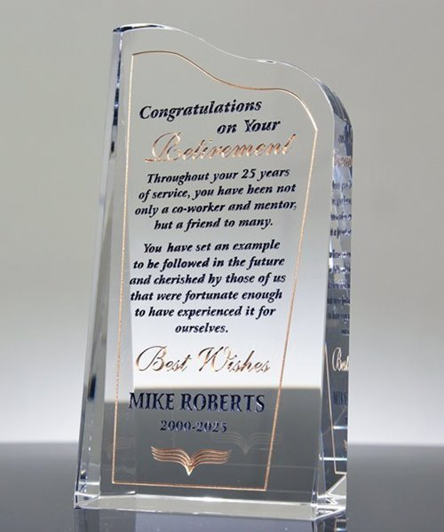 Picture of Retirement Wave Crystal Award