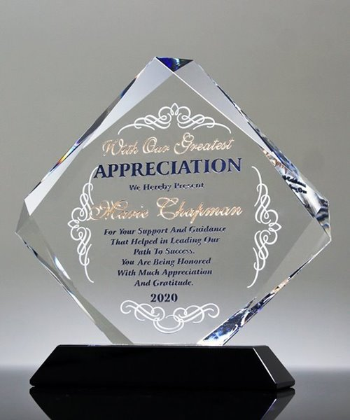 Picture of Retirement Award Crystal