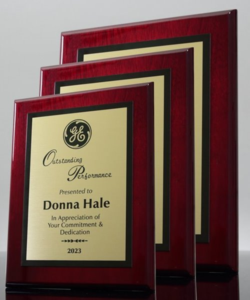 Picture of Gloss Rosewood Econo Award Plaque - Gold