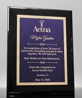 Picture of Gloss Ebony Designer Award Plaque - Purple