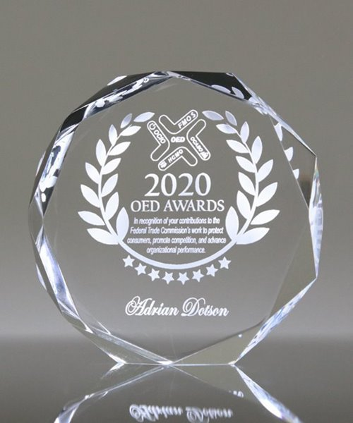 Picture of Premium Acrylic Free Standing Octagon Award