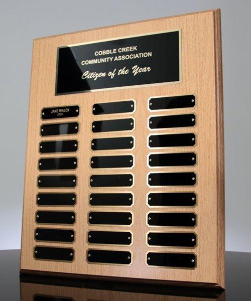 Picture of Oak Finish Perpetual Plaque