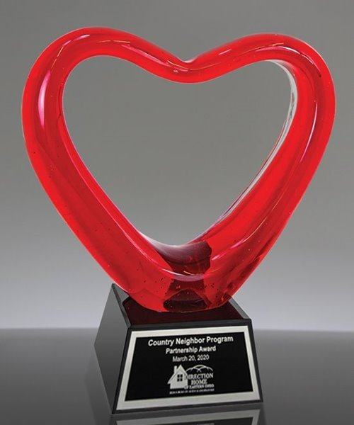 Picture of Glass Heart Trophy