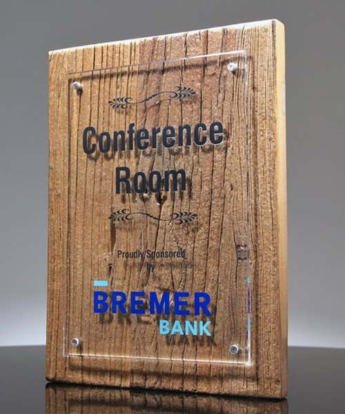 Picture of Reclaimed Wood Floating Acrylic Plaque