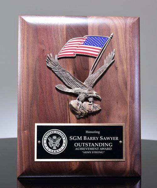 Picture of US Army Officer Award Plaque