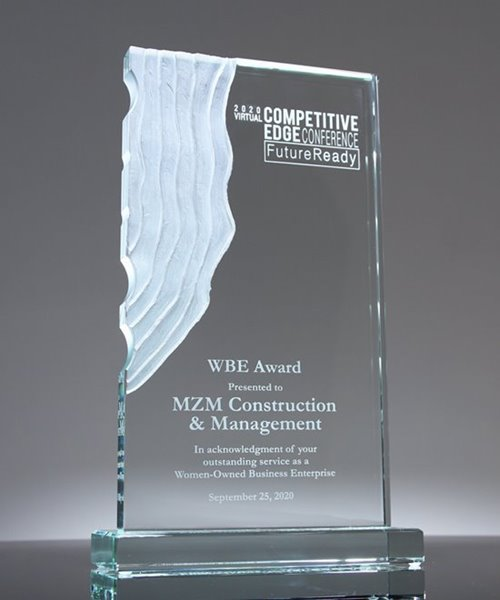 Picture of Sculpted Waterfall Crystal Award