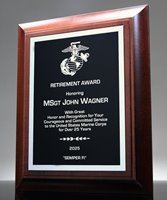 Picture of Service Retirement Award Plaque