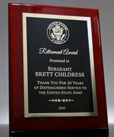 Picture of Distinguished Retirement Plaque