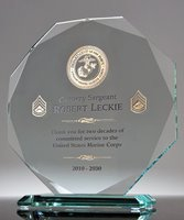 Picture of Military Service Crystal Award
