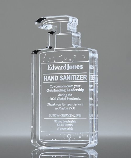 Picture of Hand Sanitizer Acrylic Trophy