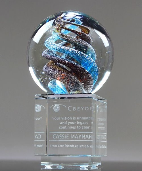 Picture of Helix Art Glass Award