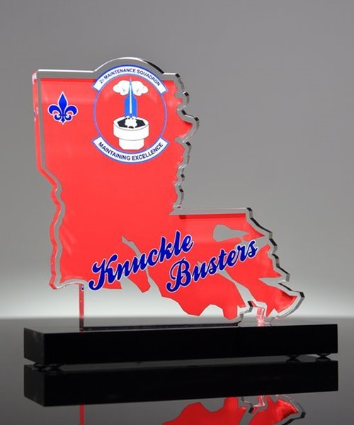 Picture of Louisiana State Shaped Trophy