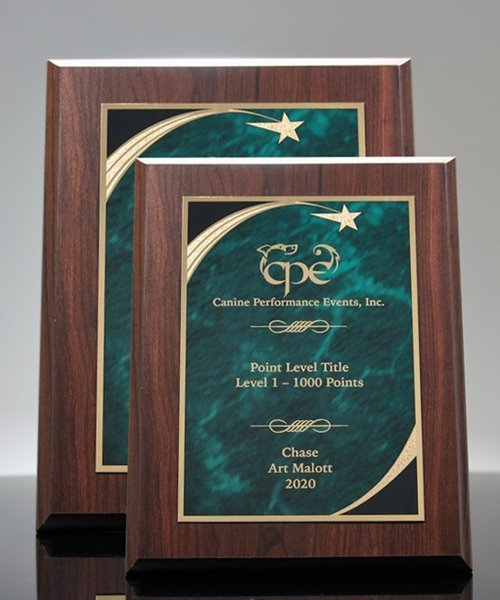 Picture of Designer Green Marble Star Plaque