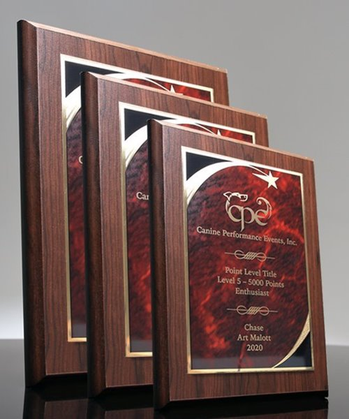 Picture of Designer Red Marble Star Plaque