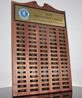 Picture of Employee Appreciation Perpetual Plaque with 80 Plates