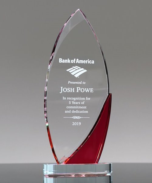 Picture of Corporate Surge Red Crystal Award