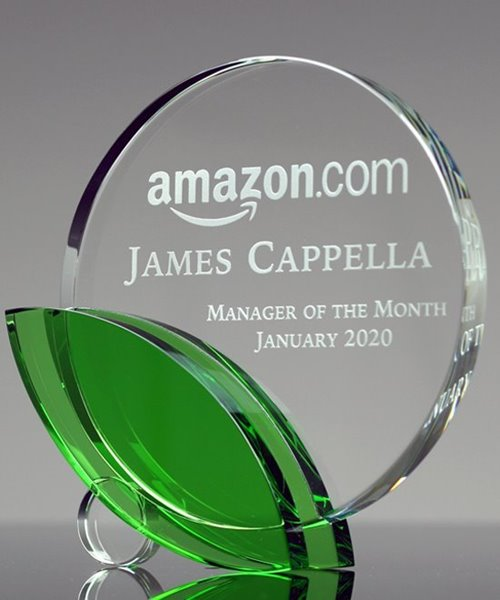 Picture of Crystal Green Leaf Award