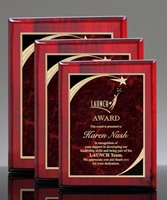 Picture of Premium Sweeping Star Plaque - Red