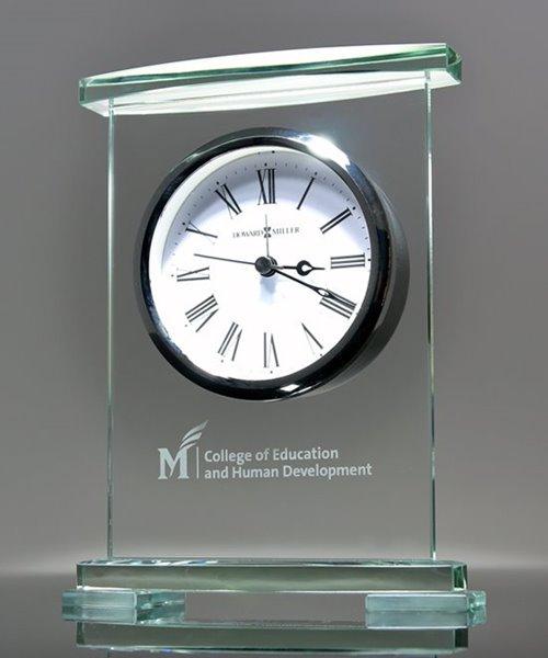 Picture of Jade Crystal Desk Clock