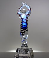 Picture of Achievement Ovation Art Glass Award