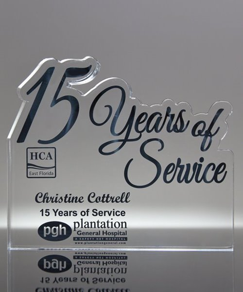 Picture of 15 Years of Service Acrylic Award