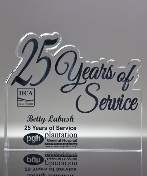 Picture of 25 Years of Service Acrylic Award