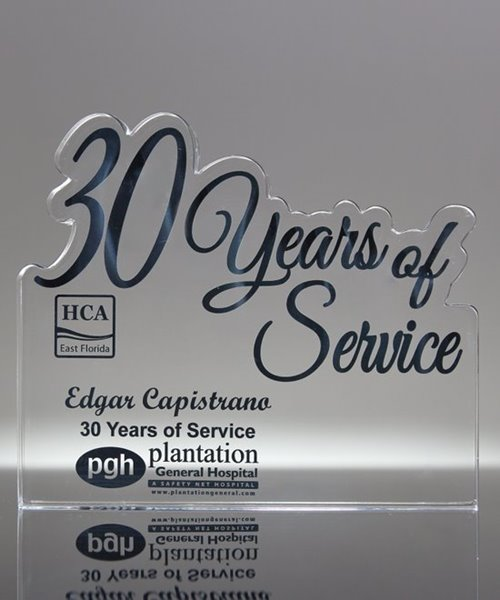 Picture of 30 Years of Service Acrylic Award