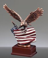 Picture of Rustic Flag Eagle Trophy