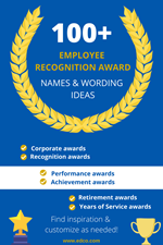 100+ Employee Recognition & Appreciation Award Wording Ideas