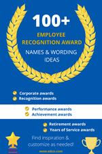 100+ Employee Recognition & Appreciation Award Wording Ideas