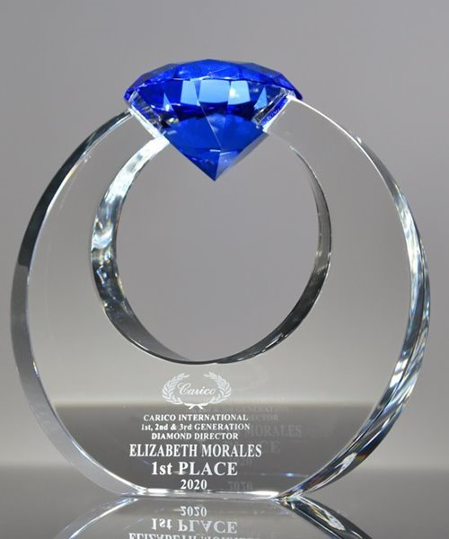 Picture of Blue Crystal Diamond Circle Award
