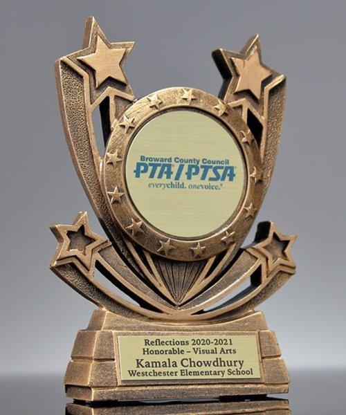 Picture of Twin Star Custom Insert Award