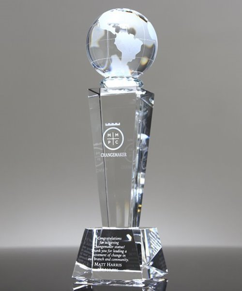 Picture of Galaxy Crystal Globe Trophy
