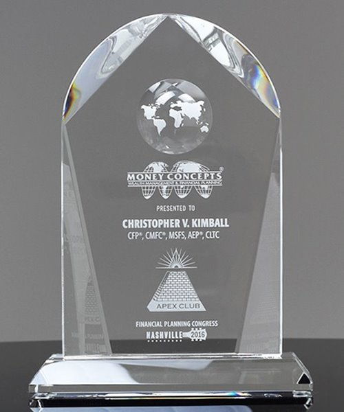 Picture of Crystal Arch Globe Award