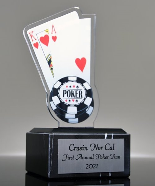 Picture of Big Slick Acrylic Cards Trophy