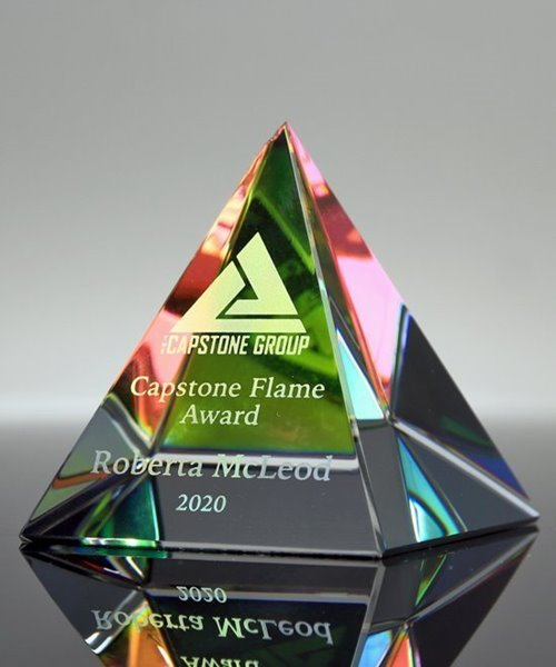 Picture of Crystal Pyramid Paperweight