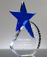 Picture of Blue Crystal Shooting Star Award
