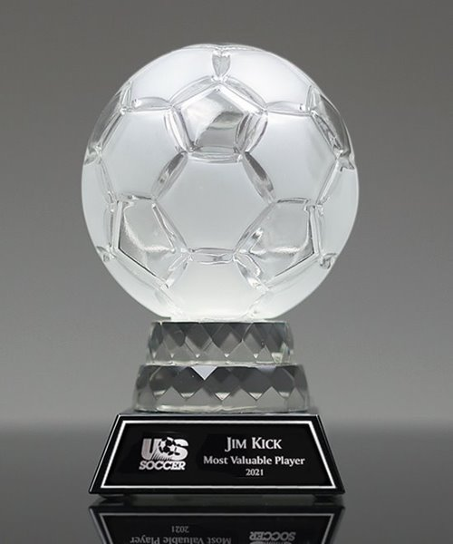 Picture of Glass Soccer Trophy