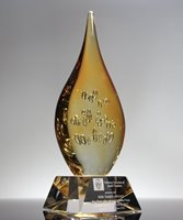 Picture of Genesis Flame Art Glass Award