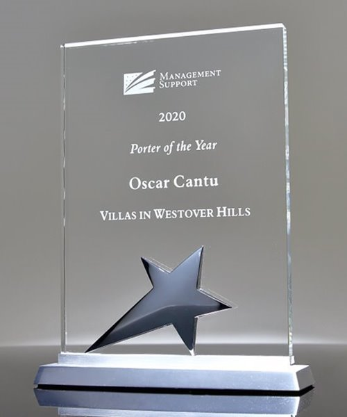 Picture of Glass Star Plaque Award
