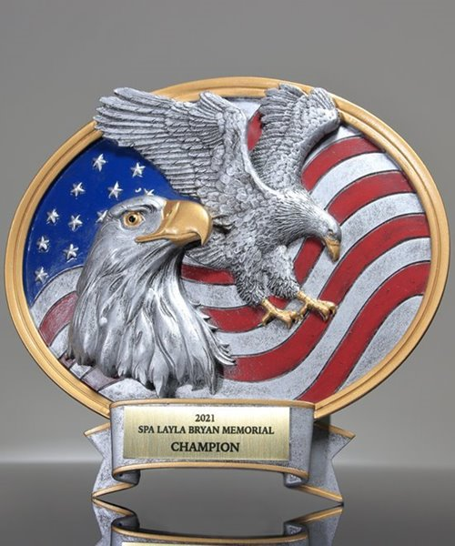 Picture of American Flag Eagle Silverstone Oval