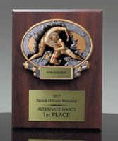 Picture of Xplosion Wrestling Plaque Award